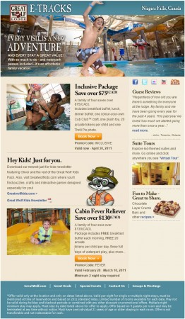 20110217 great wolf lodge email newsletter 262x450