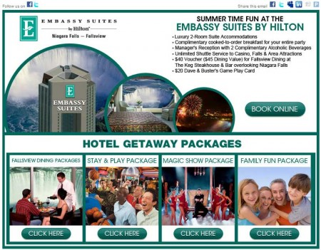 20110726 embassy suites fallsview email newsletter 450x351