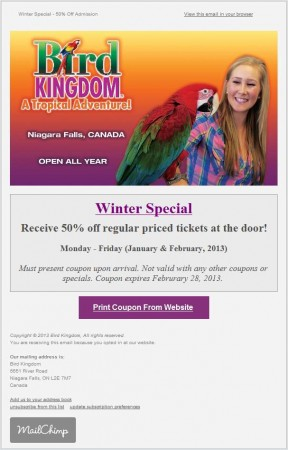 20130108 bird kingdom email newsletter 288x450
