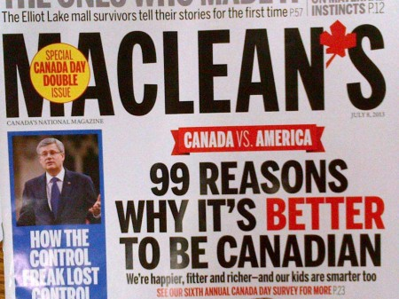 99 Reasons Why It's Better to be Canadian