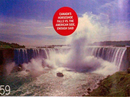 Canada's Horseshoe Falls vs The American Side. Enough Said
