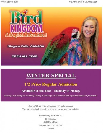 20140106 bird kingdom email newsletter 349x450