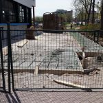 Kelsey's patio is ready to be poured